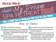 The winning board will be awarded with a $300 Spa & Wellness Gift Card by Spa Week. Ends 4/30.