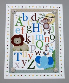 @Emmalee Barandon Cute jungle themed alphabet.  Isn't Nolan's room all jungle. Love this.