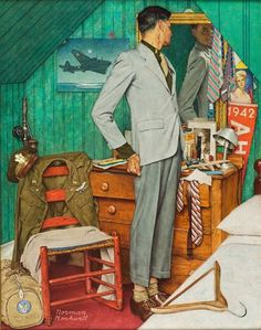 "Norman Rockwell ""Back to Civies"" (1945)"