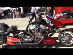 Exploding Top Fuel Nitro Harleys in Las Vegas