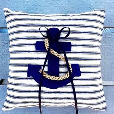 Nautical Anchor Ring Bearer Pillow - Beach Wedding Nautical Wedding/Coast Guard wedding/Navy wedding/marine wedding