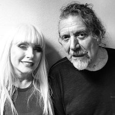 Robert Plant photographed recently with Debbie Harry of Blondie, Photo: Chris Stein