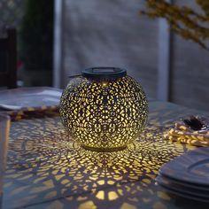 Smart Solar Riad 7 in. Integrated LED Solar Lantern - The Home Depot Solar Powered Lanterns, Solar Lanterns, Solar Lights, Solar Garden Lights, Table Lanterns, Landscape Lighting, Outdoor Lighting, Outdoor Lantern, Lighting Ideas