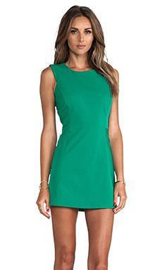 MILLY Sleeveless Shift Dress in Palm   REVOLVE