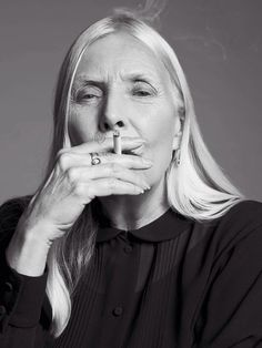 // Joni Mitchell by Hedi Slimane for Saint Laurent.