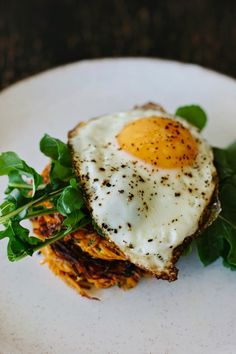 Spiced sweet potato cakes with crispy fried egg recipe + a giveaway! | My Darling Lemon Thyme