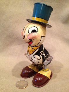 1950's Jiminy Cricket Disney Tin Litho..