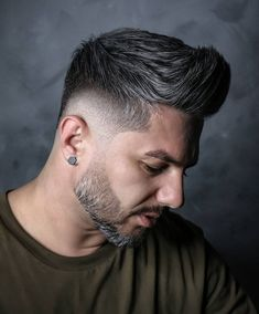 Check out these cool and modern ways to wear the quiff haircut. Add a peak to a pompadour, spikes or any fade haircut for men. Types Of Fade Haircut, Short Fade Haircut, Quiff Haircut, Quiff Hairstyles, Mens Modern Hairstyles, Cool Hairstyles For Men, Cool Haircuts, Haircuts For Men, Men's Haircuts