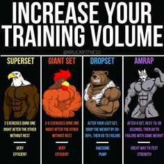 German Volume Training Method With 6 Weeks Training Program When you need more training volume, there's a few simple ways to implement them into your workout. Here's ways I like to go about SUPERSETS: This is simply where you… Continue Reading → Gym Tips, Gym Workout Tips, Weight Training Workouts, Drop Sets Workout, Push Pull Workout Routine, German Volume Training, Academia Fitness, Training Programs, Physical Fitness
