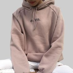 OH YES New Fashion Corduroy Long sleeves Letter Harajuku Print Girl Light pink Pullovers Tops O-neck Woman Hooded sweatshirt. Hoodie Sweatshirts, Printed Sweatshirts, Sweatshirts Online, Grunge Look, Grunge Style, 90s Grunge, Soft Grunge, Harajuku, Long Sleeve Sweater