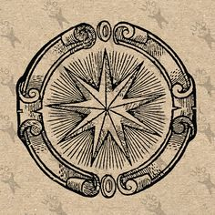 Vintage image Star Alchemical Symbol Retro drawing by UnoPrint Gravure Illustration, Esoteric Art, Marquesan Tattoos, Occult Art, Clipart Black And White, Zodiac Constellations, Digital Backdrops, Mail Art, Pictures To Draw