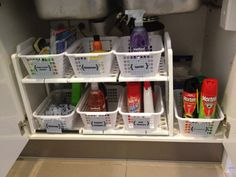 www.ourfourwallsandaroof.blogspot.com Under the sink organization
