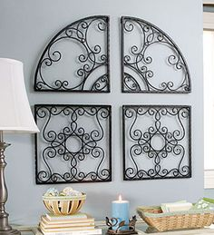 Longaberger wrought iron squar and arches.  I want this for above the headboard.