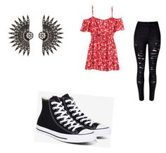 """Untitled #5"" by limartin on Polyvore featuring WithChic, H&M and Converse"