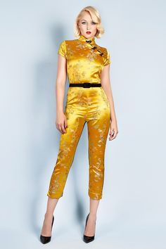 Poison Ivy catsuit - gold