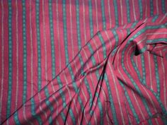 Retro-Woven-Shot-Cotton-Fabric-for-Dress-Making-Red-Green-Stripe