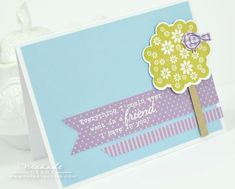 Friendly Bird Card by Nichole Heady for Papertrey Ink (July 2012)