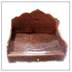 Handcrafted Wooden Sinhasan for Dieties