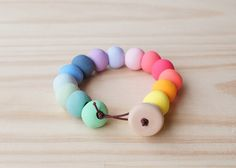 Hey, I found this really awesome Etsy listing at https://www.etsy.com/listing/207358700/handmade-polymer-clay-bead-bracelet