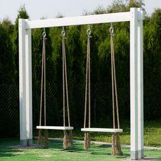 Backyard swings, Backyard for kids, Backyard decor, Backyard playground, Garden … – Modern Design - Modern Backyard Swings, Backyard Playground, Backyard For Kids, Backyard Patio, Backyard Landscaping, Garden Swings, Backyard Ideas, Playground Design, Playground Ideas