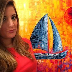 Colorful Sailboat Painting ⛵️❤️ www.laelanielarach.com