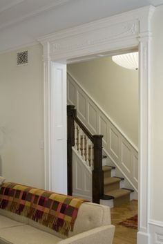 Board and batten up stairs