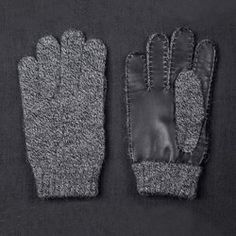Wool gloves.