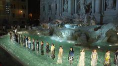 FENDI Autumn-Winter 2016-17 Collection on the Fontana di Trevi, Rome, Italy