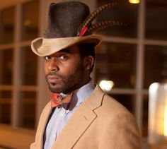 Handmade Wool Felt High Hat Fedora with Fur Leather by REShats, $175.00