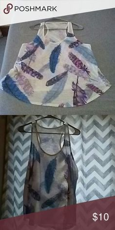 Tank top Tank top with feather design. Forever 21 Tops Tank Tops
