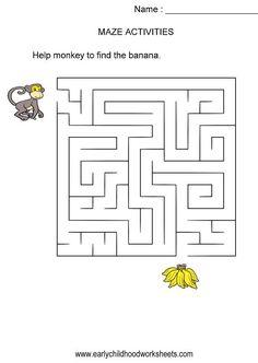 printable maze worksheet