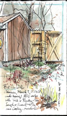 I love Cathy Johnson's work. She has a great Facebook page called Artist's Journal Workshop.
