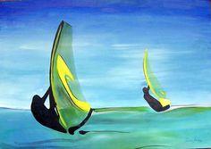 """Windsurf"" - Acrílico. Projeto ""Pousada Vila das Velas"". Dezembro 2005."