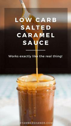 A keto caramel recipe that acts exactly like the real deal! This low carb salted caramel sauce can be eaten straight from the fridge or reheated to pour over your favorite keto treats! Perfect caramel…More 12 Easy Keto Halloween Treats Ideas Keto Sauces, Low Carb Sauces, Healthy Sauces, Healthy Meals, Healthy Food, Low Carb Backen, Keto Approved Foods, Vegan Keto Diet, Ketogenic Diet