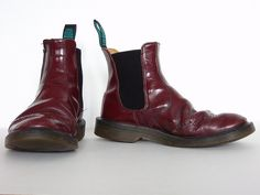 Oxblood Solovair Dealer Boots by stokebear, via Flickr - Mine are similar, found them in a dumpster sophomore year.