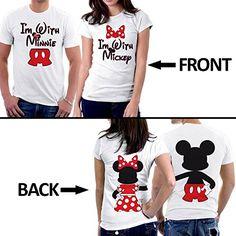 ffda0bbfd Amazon.com: PicOnTshirt Mickey Minnie Two Sided Matching Couple Shirts  Design 164: Clothing
