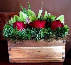 Christmas floral arrangements  via http://kathy-prettyinink.blogspot.com