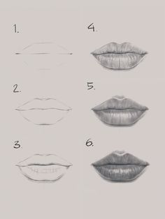 More tutorials on my YouTube channel at the link below and on Instagram @nadiacoolrista Eye Drawing Tutorials, Sketches Tutorial, Drawing Techniques, Art Drawings Sketches Simple, Pencil Art Drawings, Realistic Drawings, Drawings Of Lips, Lips Sketch, Drawing People
