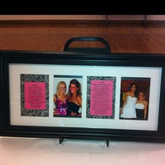 Great gift for graduating seniors! Include a photo of the graduate with another sister and have her write a note of congratulations or a favorite memory! Bizzozero I want this when i graduate please!