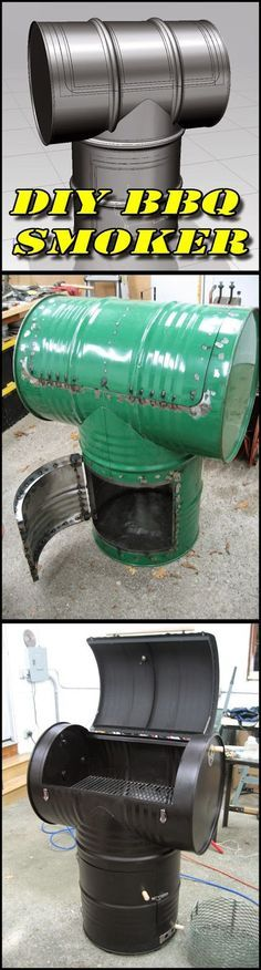 DIY: Make your own BBQ Smoker out of 2 55gal drums