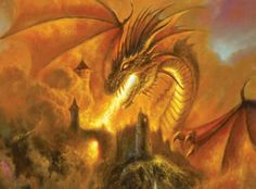 Firestorm Dragon Fantasy SunsOut 1000 Piece Jigsaw Puzzle by Artist Bob Eggleton, $16.50