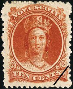 Sello%3A%20Queen%20Victoria%20(Nueva%20Escocia)%20(Queen%20Victoria)%20Mi%3ACA-NS%209y%2CSn%3ACA-NS%2012%20%23colnect%20%23collection%20%23stamps Postage Stamp Art, Vintage Stamps, Queen Victoria, Nova Scotia, Ephemera, Postcards, North America, Vintage World Maps, Coins