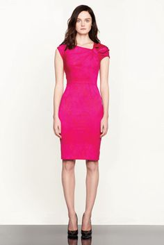 Peter Som Pre-Fall 2012    Model: Lisa Cant #pink