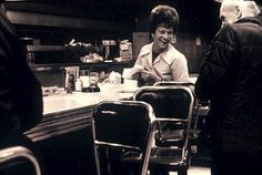 Waitress in diner, 1981