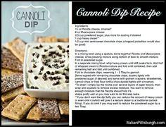 Canoli dip recipe