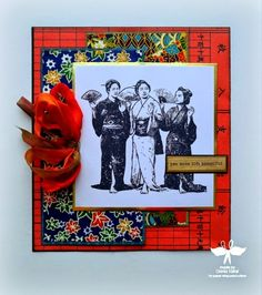 Geisha Card by Dana Tatar - Paper Wings Productions