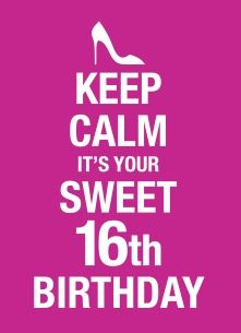 Keep calm it's your sweet 16th birthday! #Hallmark #HallmarkNL #happybirthday #verjaardag #kaart #birthday #jarig #party #bday #sweetsixteen