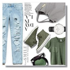 """""""Untitled #715"""" by fashion-pol ❤ liked on Polyvore featuring Forever 21, Daniel Wellington and Keds"""