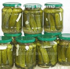 » Castraveti bulgarestiCulorile din Farfurie Canning Recipes, My Recipes, Romanian Food, Fermented Foods, Preserving Food, Sorbet, Interior Design Living Room, Celery, Pickles