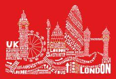 London Framed Art, Prints, Paintings & Wall Art for Sale Skyline Von London, London Poster, Cityscape Art, Art For Sale Online, Old Street, Call Art, Wall Art For Sale, City Maps, Typography Prints